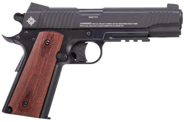 Crosman Modell 1911 Co2 Pistole 4,5mm Diabolo (.177) 12 Schuss