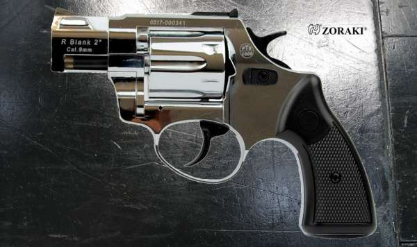 ZORAKI R2 2 Zoll Schreckschuss Revolver Kal. 9 mm R.K. chrom B-Ware 2.Wahl