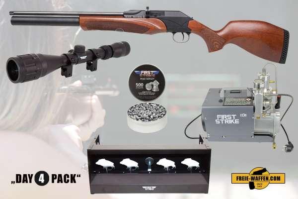 Komplettset: Diana P1000 Evo2 Pressluftgewehr + Kompressor + Munition + Ziele + Zubehör