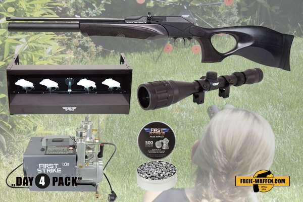 Komplettset: Diana P1000 Evo2 TH Black Pressluftgewehr + Kompressor + Munition + Ziele + Zubehör