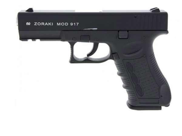 Zoraki 917 Schreckschusspistole / Gaspistole schwarz-chrom 9 mm