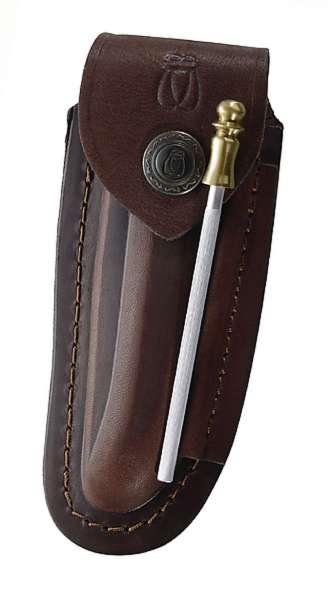 Leder-Etui, braun, für Laguiole-Messer mit 12 cm Heftlänge