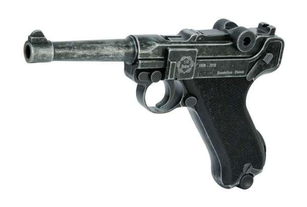 ME P08 Schreckschuss Pistole 9 mm P.A.K. Antik Look Jubiläumswaffe Sammlerwaffe Limited Edition 250 Stück