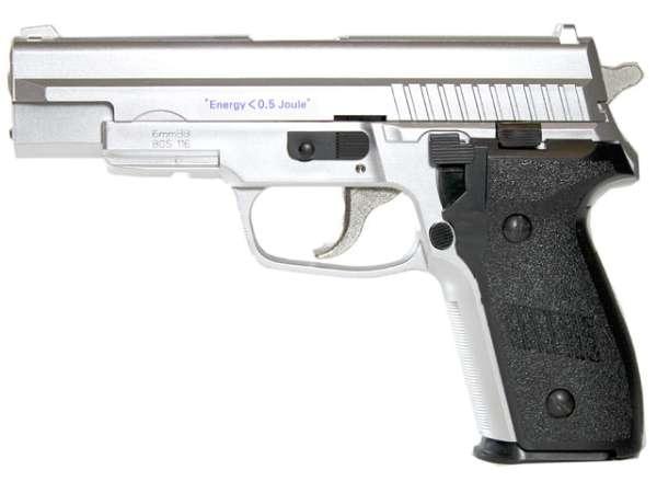 Softair Pistole BGS-116S, Chrom, Federdruck